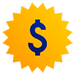 Dollar sign graphic.