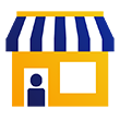 Merchant and shop icon