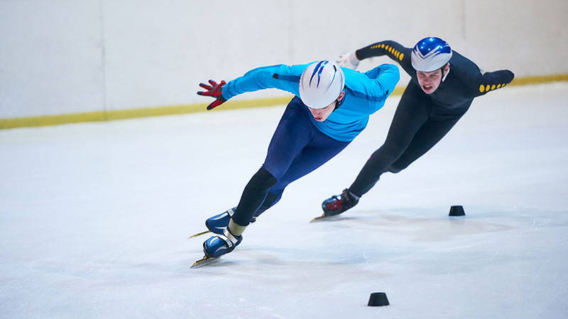 Two Olympian speed skaters
